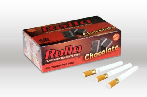 1000 ROLLO CHOCOLATE FLAVORED KS TUBES 8mm 7 FLAVORES AVAILABLE FOR YOUR CHOICE