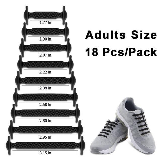 No Tie Shoelaces Elastic Lacing System Laceless Slip On Shoes Sneakers 3 Pairs
