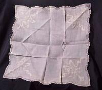 Vintage Handkerchiefs Of Distinction Embroidered Wedding Handkerchief