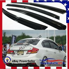 JDM Fit 12-15 HONDA CIVIC 9TH 9 4DR SEDAN RAIN GUARD WINDOW SHADE VISOR MUGEN