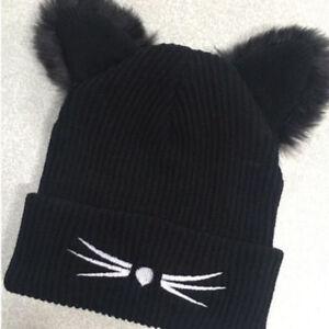 c84b936ba15 Cute Winter Knitted Hats Women Beanie Lady Knit Hat Ski Slouch Cap ...