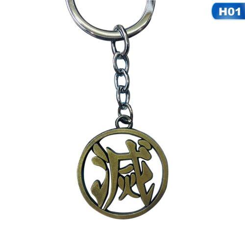 Demon Slayer Anime Alloy Metal Drip Keychain Pendant Lssed