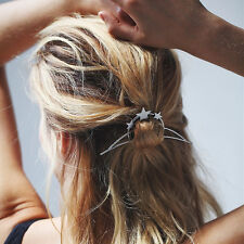 Horquillas para el pelo Star Moon Triángulo Pin de Pelo Cabello Clip Para Mujeres Peine hairgrips