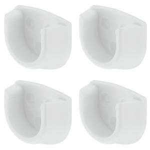 4x-White-Rail-End-Supports-Brackets-Oval-Wardrobe-Rails-Poles-20mm-4-2-Pairs