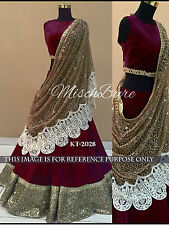 New party wear Heavy work Fancy  Bridal Wedding designer velvet Lehenga Choli