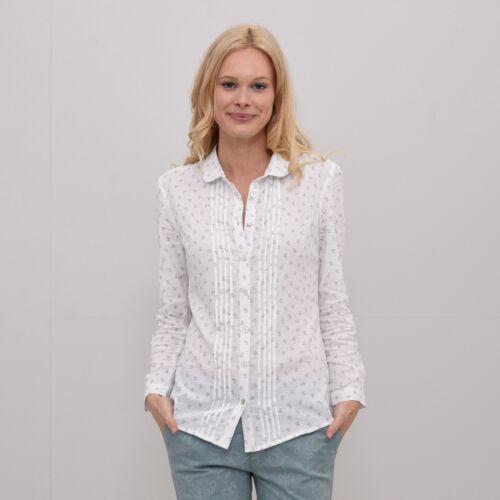 NEW! SS18 Brakeburn Ladies Pleated Dobby Shirt White