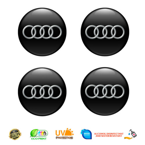 4 x 65 mm Audi aufkleber embleme nabendeckel deckel radkappen silikon