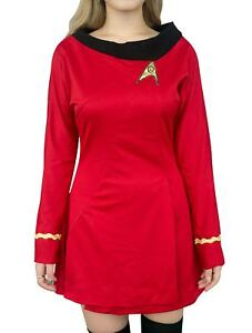 Details about Star Trek Costume Uhura Red TOS Uniform Original Series Dress Skirt Skant