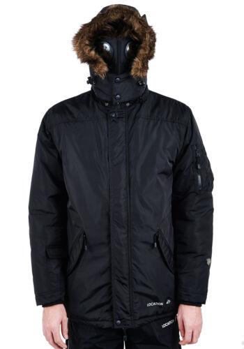 Mens Location Hunter Krigs One-10 Parka Jacket Waterproof Goggle Coat Winter