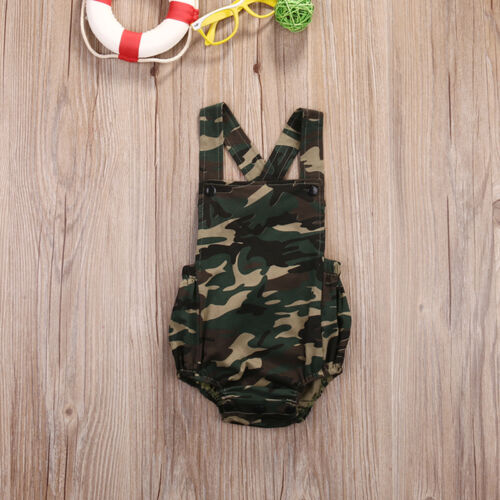 Camouflage Newborn Baby Boy Girl Romper Jumpsuit Summer Clothes Outfits Sunsuit
