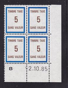FRANCE-TIMBRE-FICTIF-TAXE-FT40-MNH-coin-date-2-10-85-TB