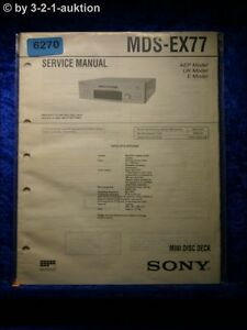 Sony-Service-Manual-MDS-EX77-Mini-Disc-Deck-6270