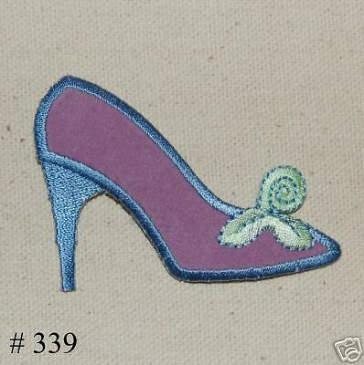 1PC~SUEDE HIGH HEEL SHOE~ IRON ON EMBROIDERED APPLIQUE