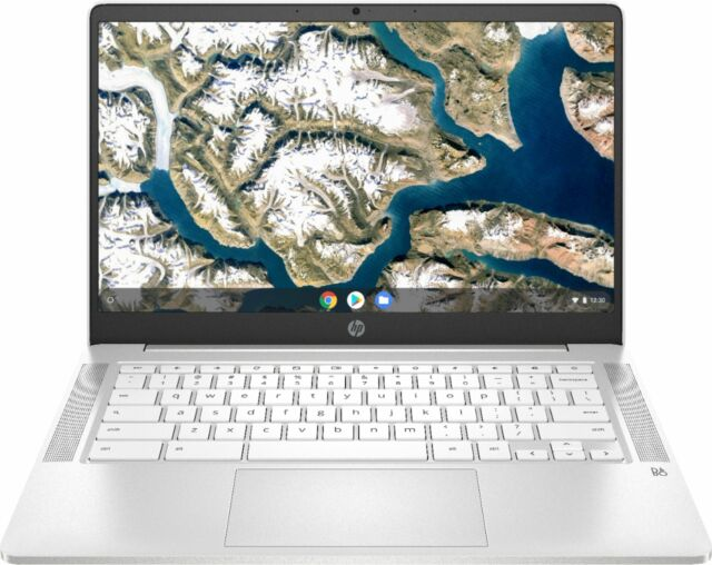 "HP - 14"" Chromebook - Intel Celeron - 4GB Memory - 32GB eMMC - Ceramic white"