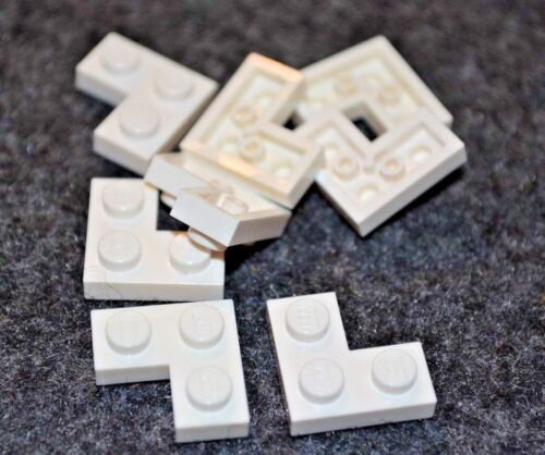 "2x2 White /""L/"" Standard Plate Bricks ~ Lego ~ NEW ~ Space 8"
