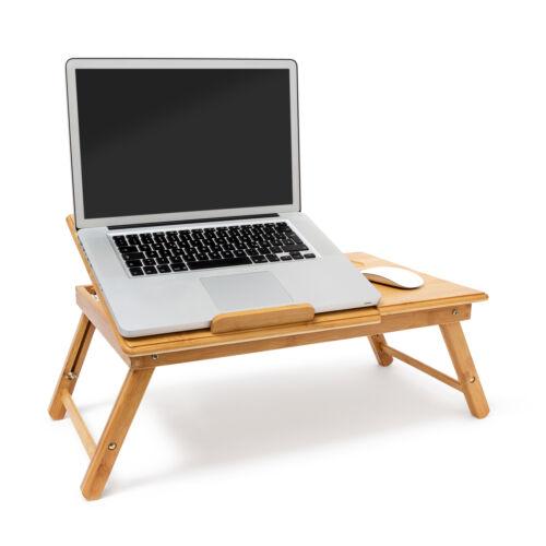 Letto Vassoio Laptop Tavolo bambù regolabile in altezza supporto laptop notebook LAPDESK