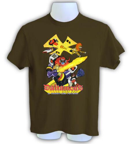 t-shirt daltanious anime il robot del futuro cartoni anni 80 TSHIRT FINO 5XL