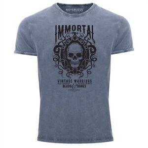 Neverless-Herren-T-Shirt-Vintage-Shirt-Printshirt-Immortal-Skull-Vintage