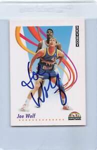 1991/92 Skybox #76 Joe Wolf Nuggets Signed Auto *F2877