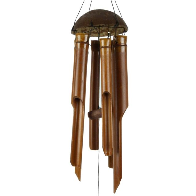 Small Bamboo Wind Chime Brown Feng Shui Spring Summer Garden Gift For Sale Online
