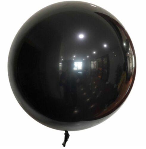 55cm XL Luftballon Schwarz Helium Bubble Rund Geburt Überraschung Geschenk