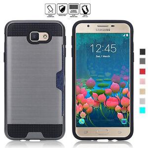 Resistant-aux-Chocs-Brosse-Carte-Poche-Coque-Rigide-pour-Samsung-Galaxy-J5-J7