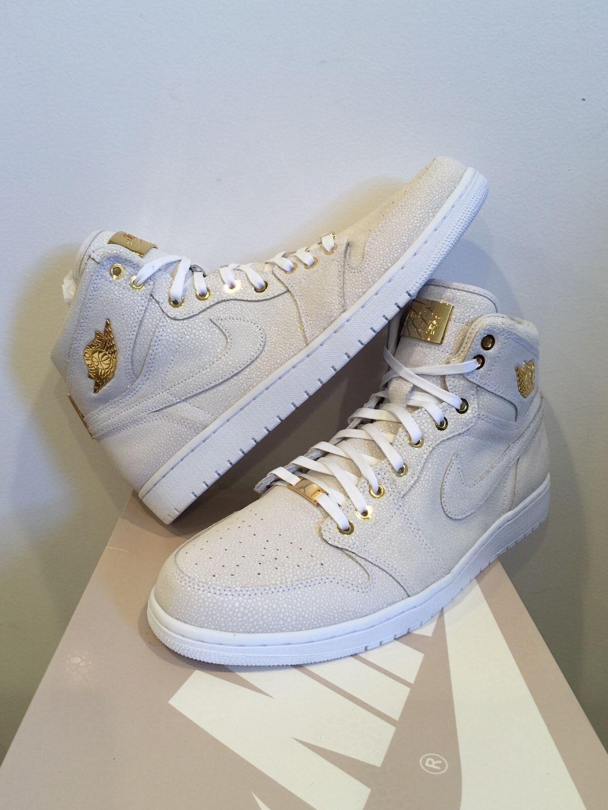 Nike Air Jordan Retro 1 Pinnacle metalico oro 24k 705075 de 130 estacional de recortes de 705075 precios, beneficios de descuentos 5f31ec