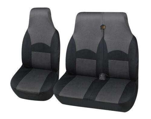 LUXURY VAN SEAT COVERS BLACK /& GREY 2+1 SINGLE FORD TRANSIT 2005 DOUBLE