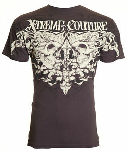 Xtreme Couture AFFLICTION Men T-Shirt SAMSON Skulls Tattoo Biker Gym MMA UFC $40