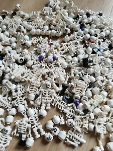 LEGO Skeleton minifigure white minifig bundle x5 Genuine /& Brand New