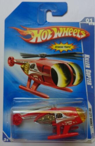 Red Version Shelf Wear 2009 Hot Wheels Killer Copter Col #107