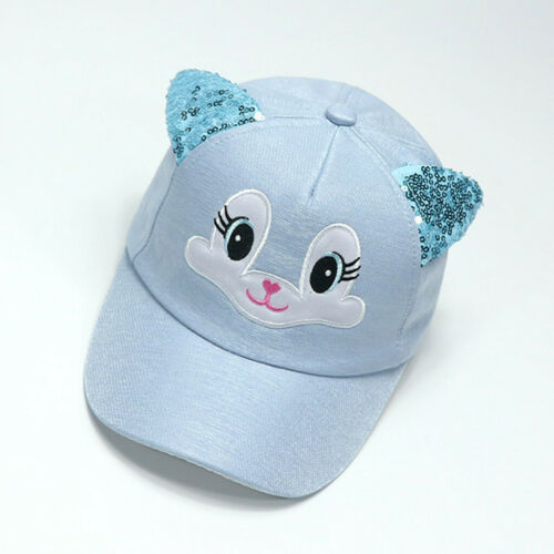 Baby Boy Girls Hats Soft Bunny Cartoon Sunhat Eaves Baseball Cap Sun Hat Beret