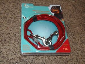 Details about PET TRENDS - 15' HEAVY DUTY CABLE TIE OUT FOR DOGS UP TO 150  LBS (P0-36-37-38)