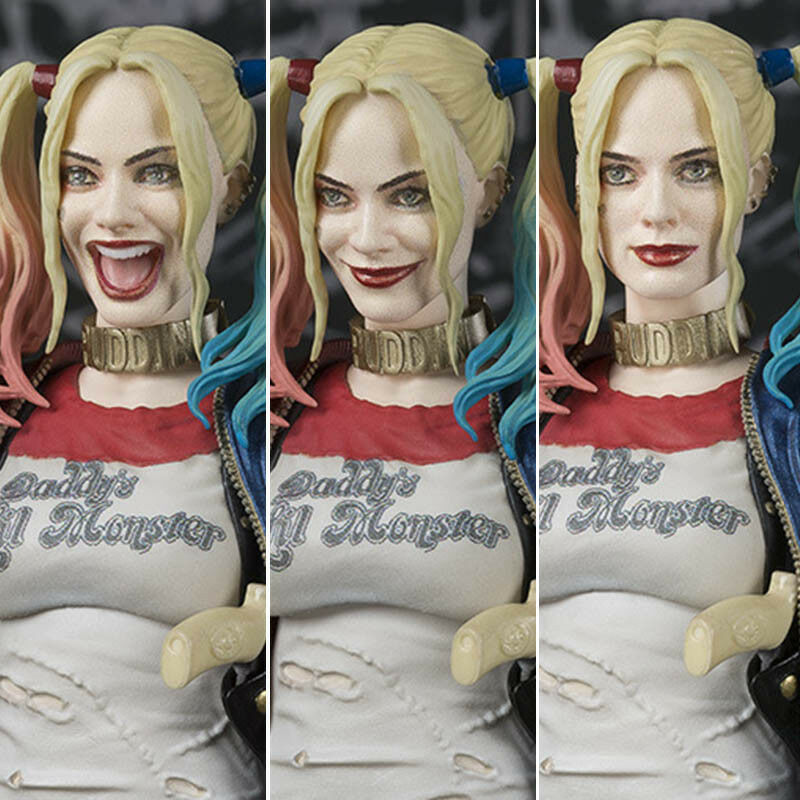 3 Face 3 Head SHFiguarts SHF DC DC DC Suicide Squad Harley Quinn Action Figures Toys f07192