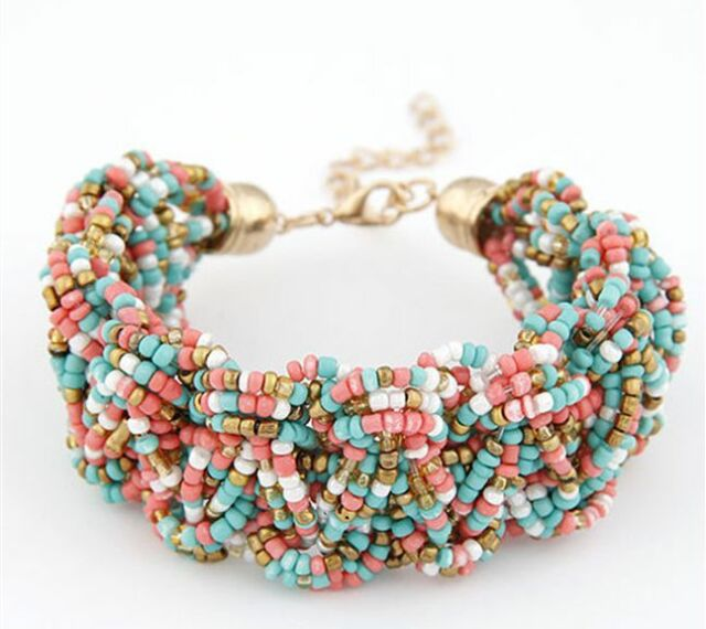 Wholesale Women Style Bracelet Gold Rhinestone Bangle Charm Cuff Jewelry