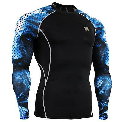 FIXGEAR CPD-B66 Compression Skin Tights Under Shirts MMA Workout Fitness GYM