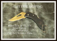 Frost Cutlery Little Whitetail 2 Half Serrated Ss Blade Fast Free Shipping