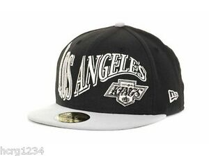 6042edae86f79 Los Angeles Kings New Era 59FIFTY NHL Pennant Fitted Hockey Cap Hat ...