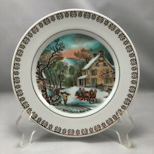 Image Is Loading Currier And Ives Plates Winter Decorative Plate The