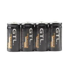 Quality 4 Piles GTL 16340 battery Accus Rechargeable CR123A LR123A 3V 1200mAh
