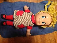 "Vtg Mattel 60s Talking Matty's Sister Belle 16"" String Haired Doll - FUNDRAISER"