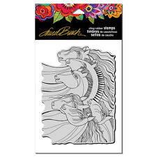 """Stampendous Clear Cling Stamp by artist Laurel Burch  """"Wild Horses"""" NEW!"""