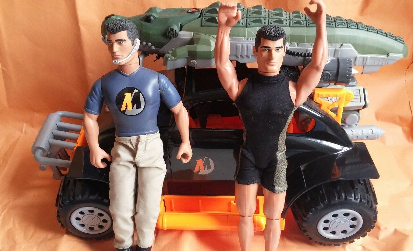 Véhicule Action Man Super Turbo + 2 Figurines - Comme Neuf
