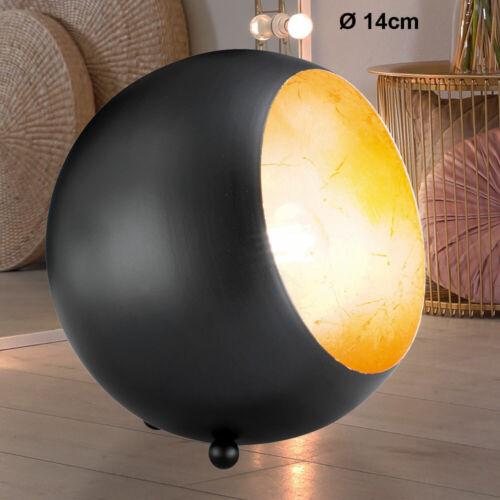 Retro Tisch Leuchte Schlaf Zimmer Nacht Lampe Steh Beleuchtung schwarz gold