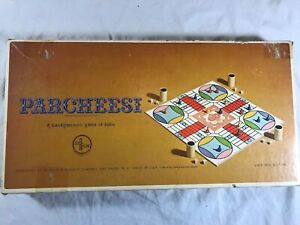 Vintage-1959-Parcheesi-Board-Game-Selchow-amp-Righter-Original-Box