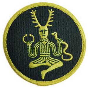 Cernunnos Patch Embroidered Sew-On Celtic Pagan Horned God NEW Design