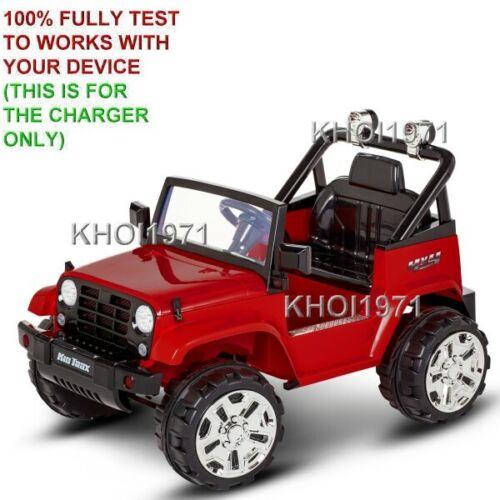 Carregador De Parede Adaptador Ac Para KT1346WM KT1354WM Kid Trax Xplorer 4X4 Jeep Ride On