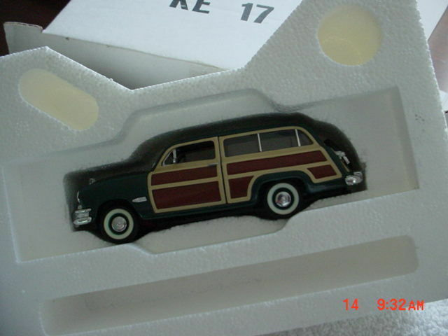 Franklin Mint 1950 FORD WOODY 1 1 1 43 SCALE MODEL W  ORIGINAL BOX 68d8b7
