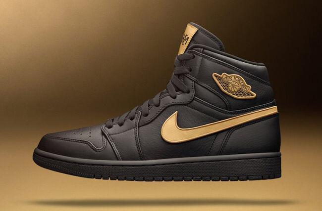 Nike Air Jordan 1 Retro High BHM Black Gold Size 10.5 908656-001 og all star
