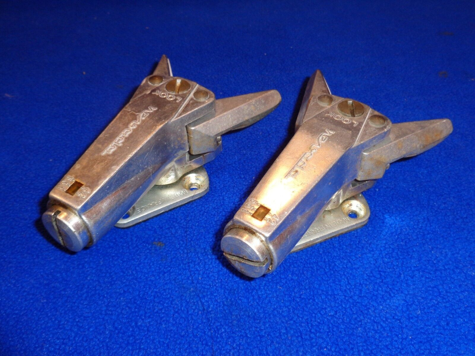 Pair of Vintage Look Nevada Alpine Ski Bindings Made in France
